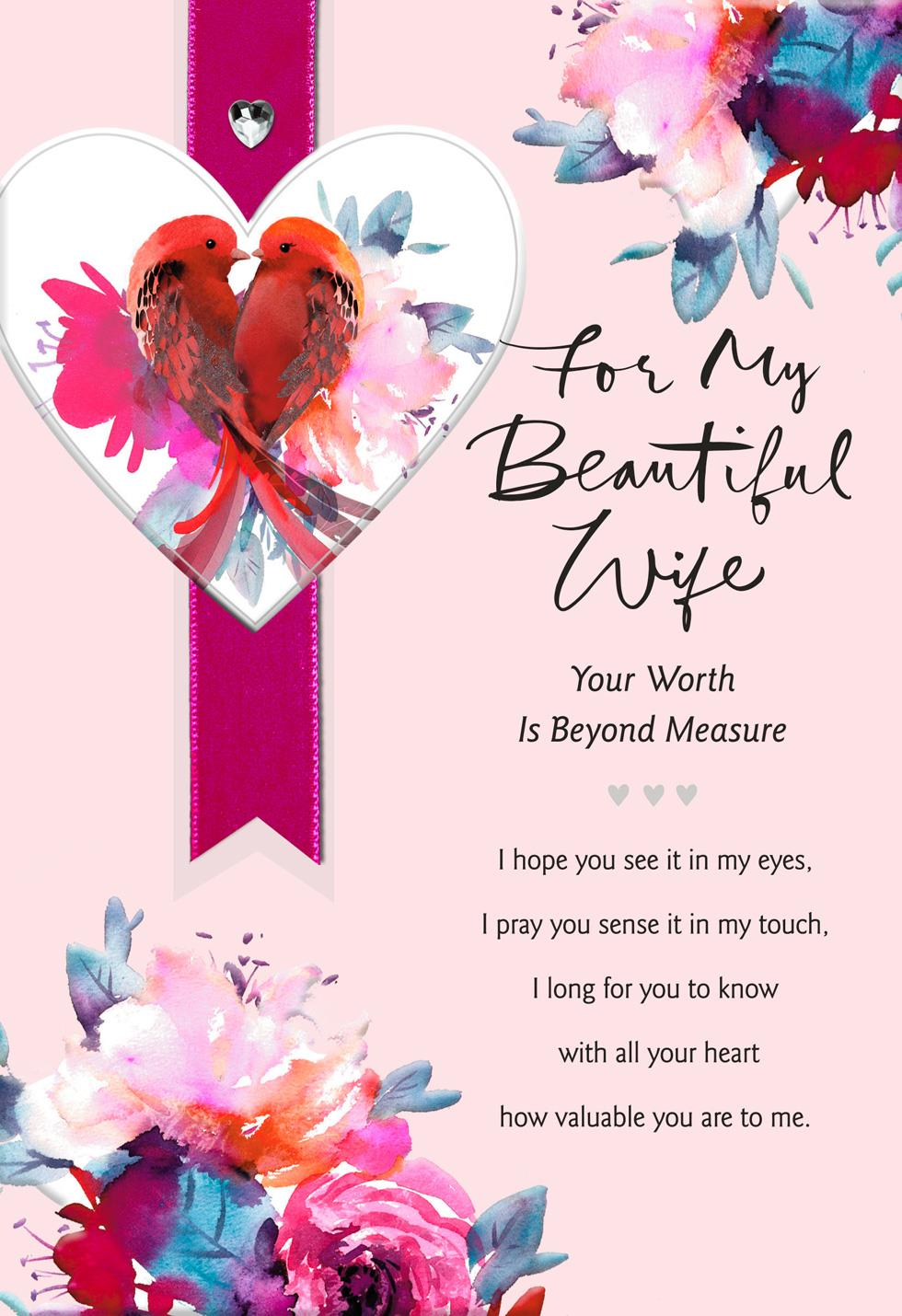 Lovebirds Religious Valentines Day Card For Wife