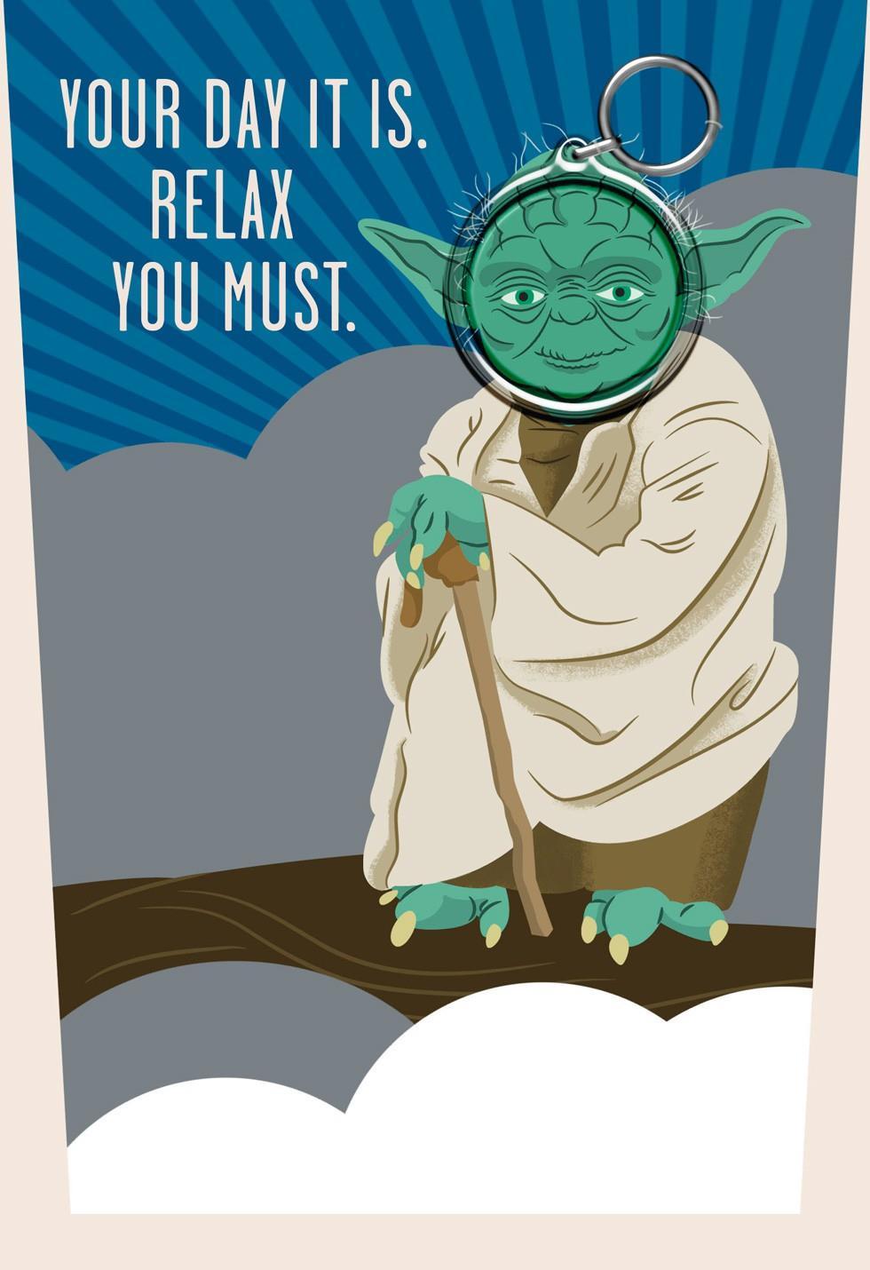 Star Wars Yoda Fathers Day Card With Keychain