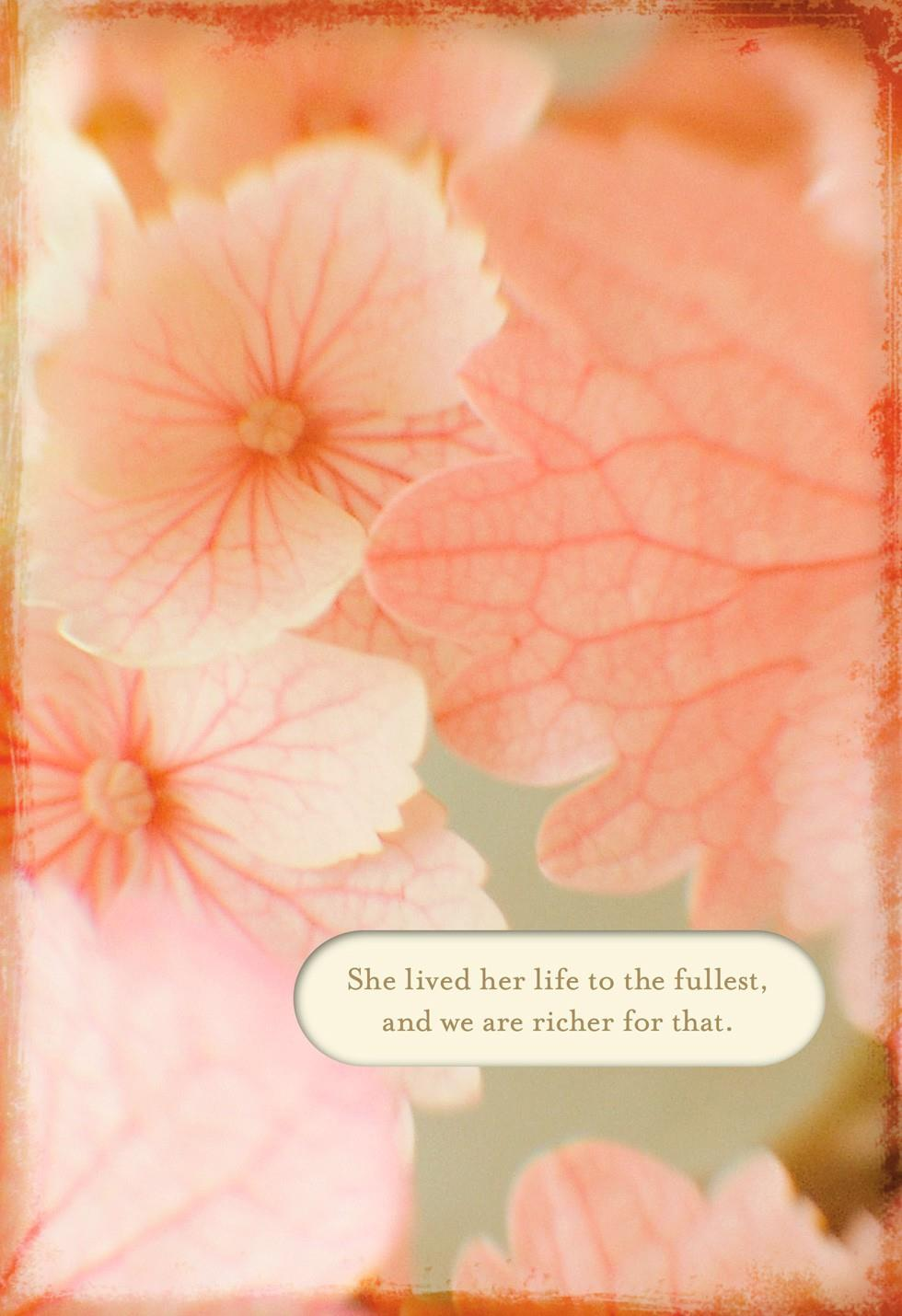 Pink Flowers Loss Of A Sister Sympathy Card Greeting