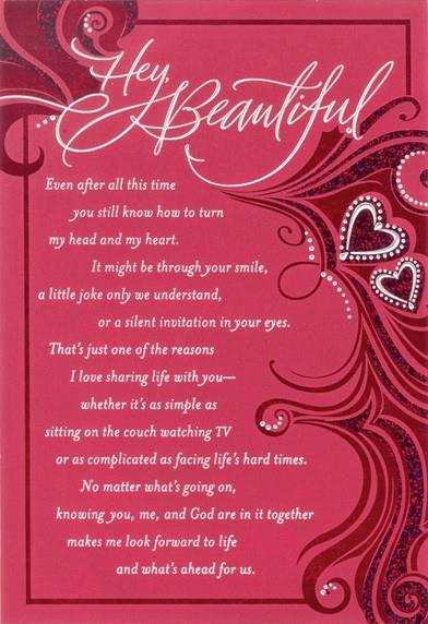 Beautiful Wife Religious Valentines Day Card Greeting