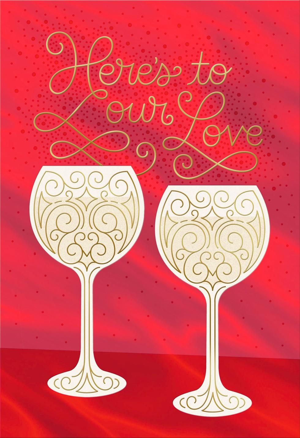 A Toast To Our Love Romantic Valentines Day Card