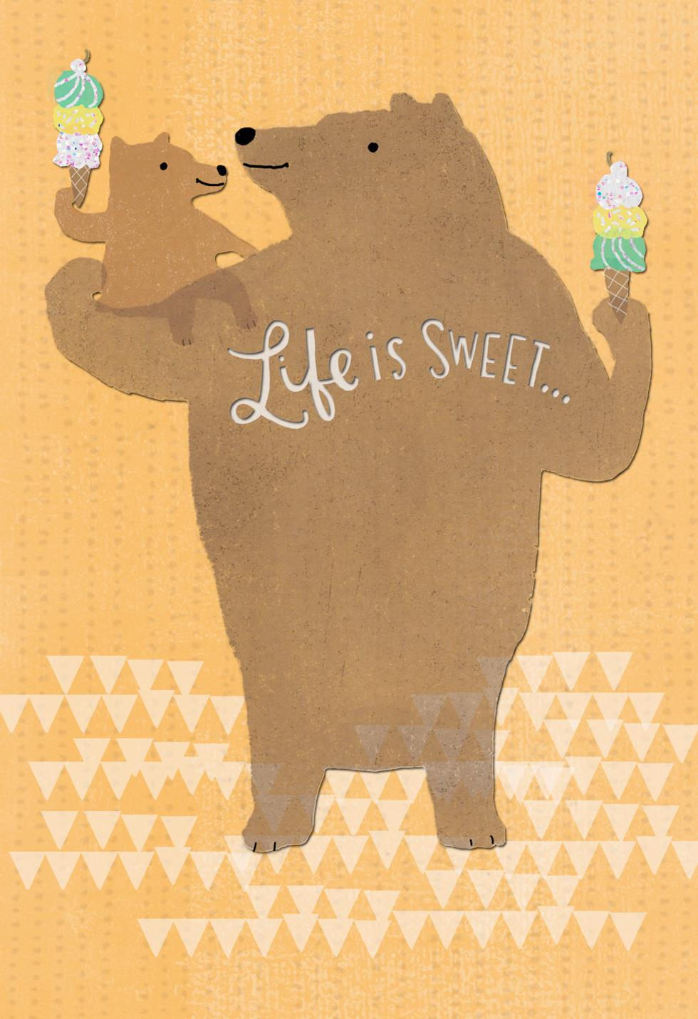 Big and Little Bear Fathers Day Card for GreatGrandpa  Greeting Cards  Hallmark