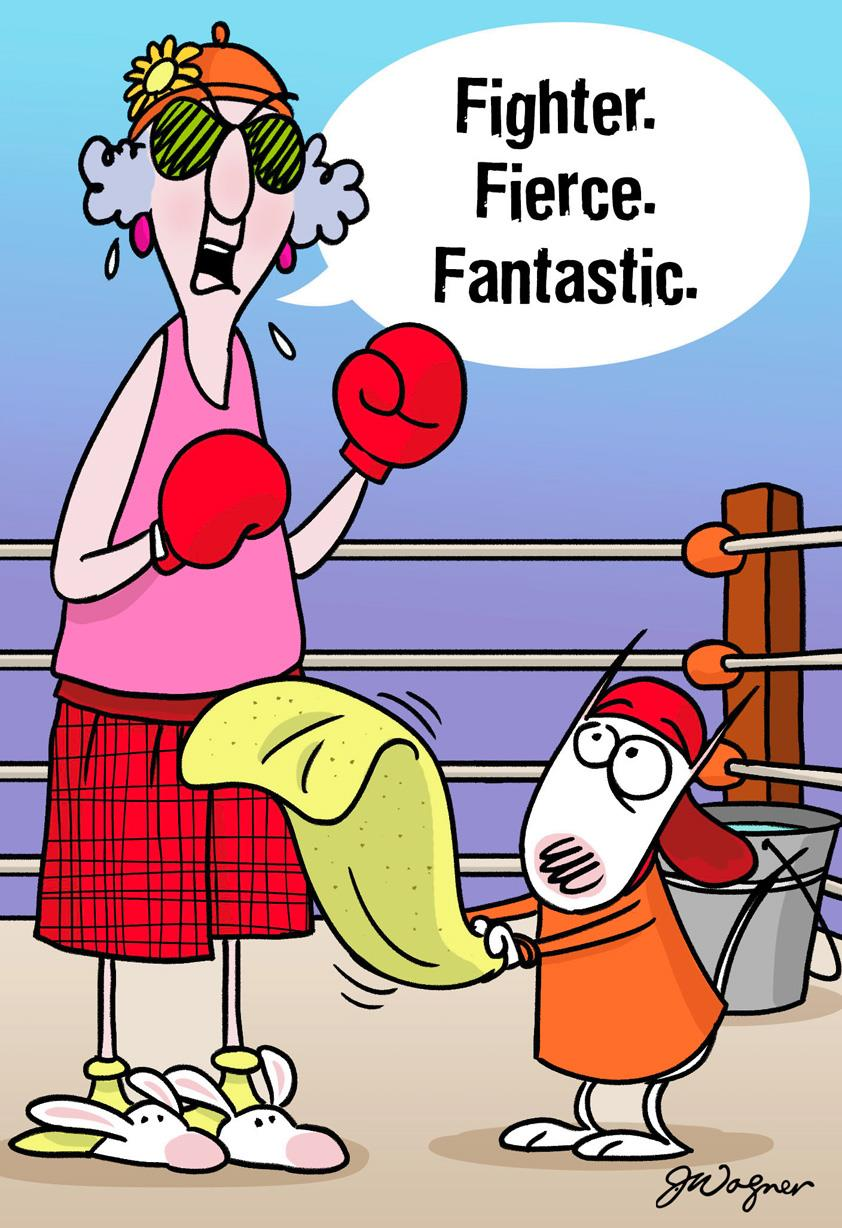 Maxine F Words for Cancer Funny Encouragement Card