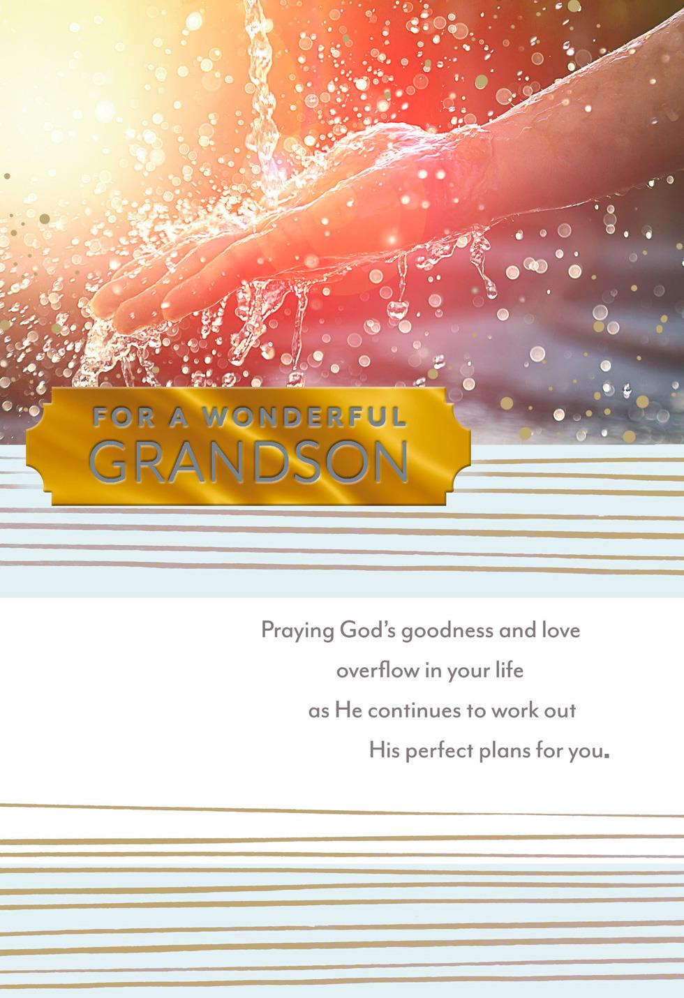 You Are a Blessing Religious Graduation Card for Grandson