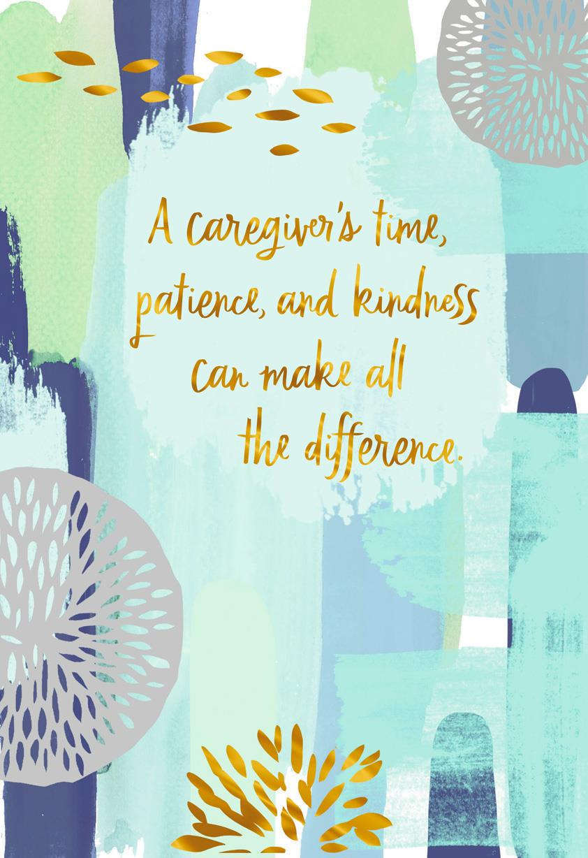 You Make All The Difference Thank You Card For Caregiver