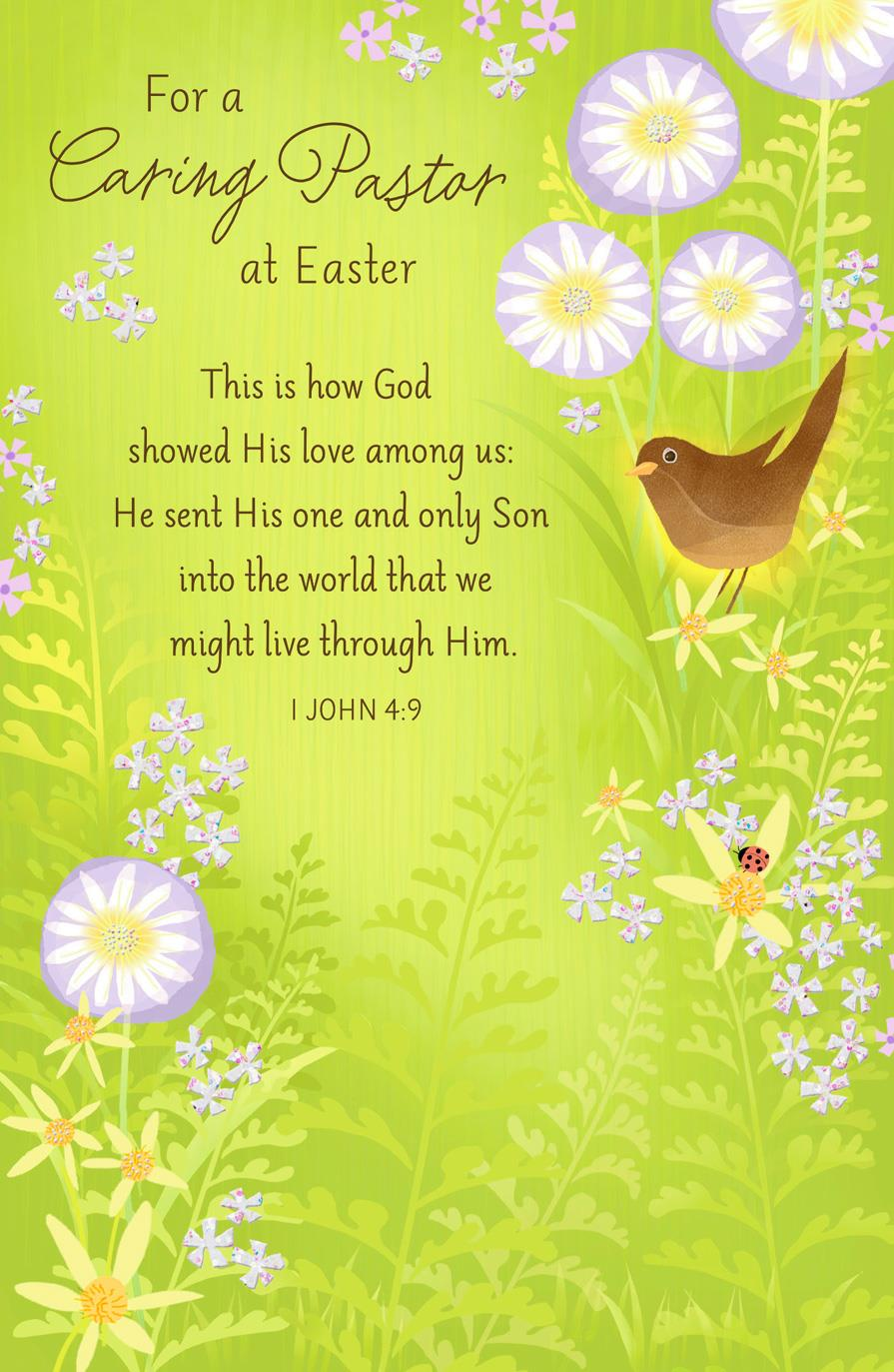 For A Caring Pastor Religious Easter Card Greeting Cards