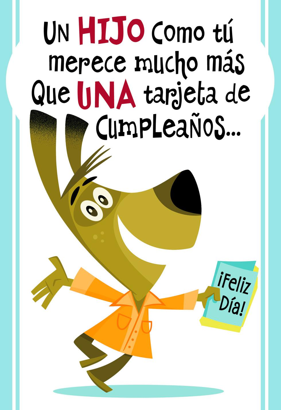 A Son Like You Spanish Language Birthday Card Greeting
