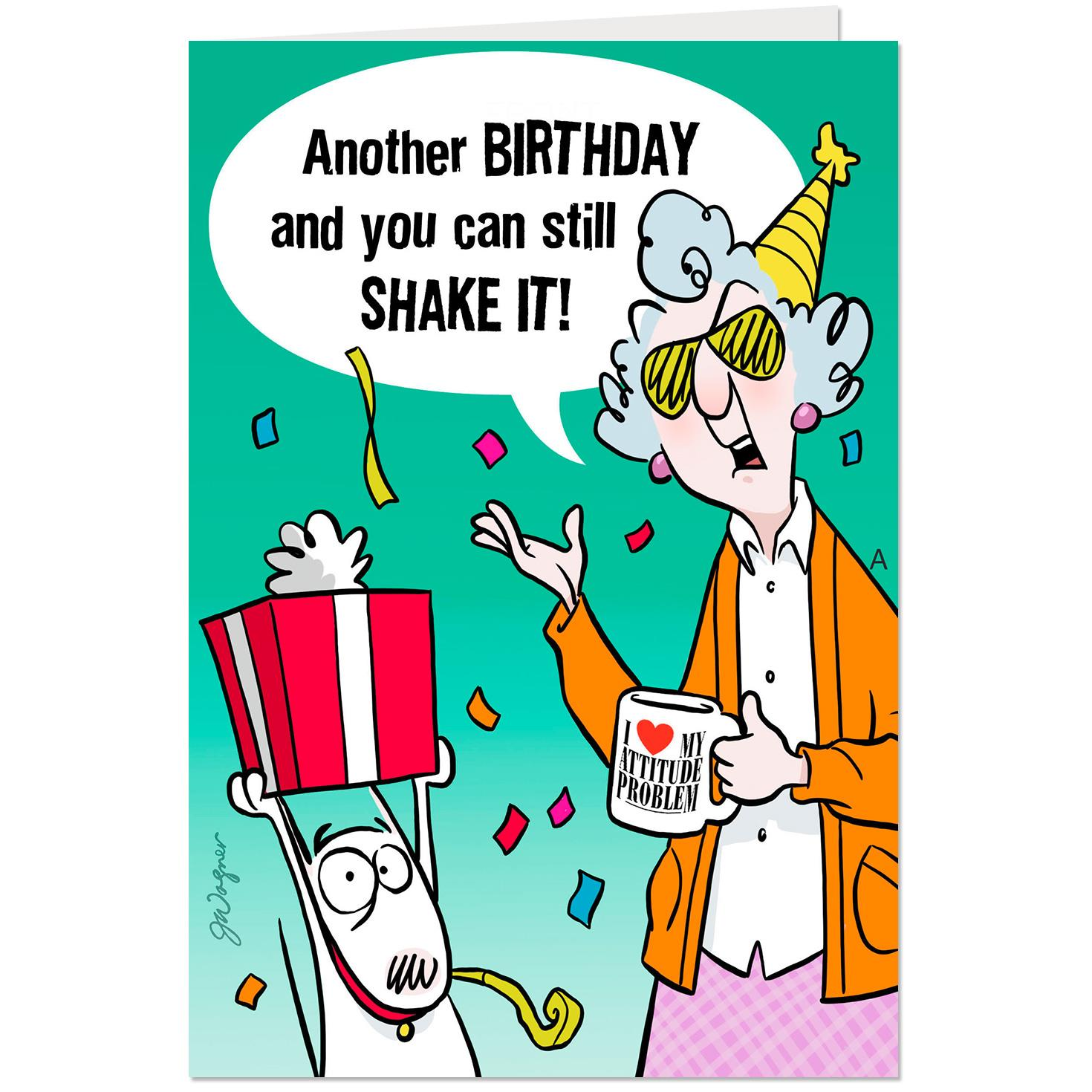 Maxine™ You Can Still Shake It Funny Pop Up Birthday Card