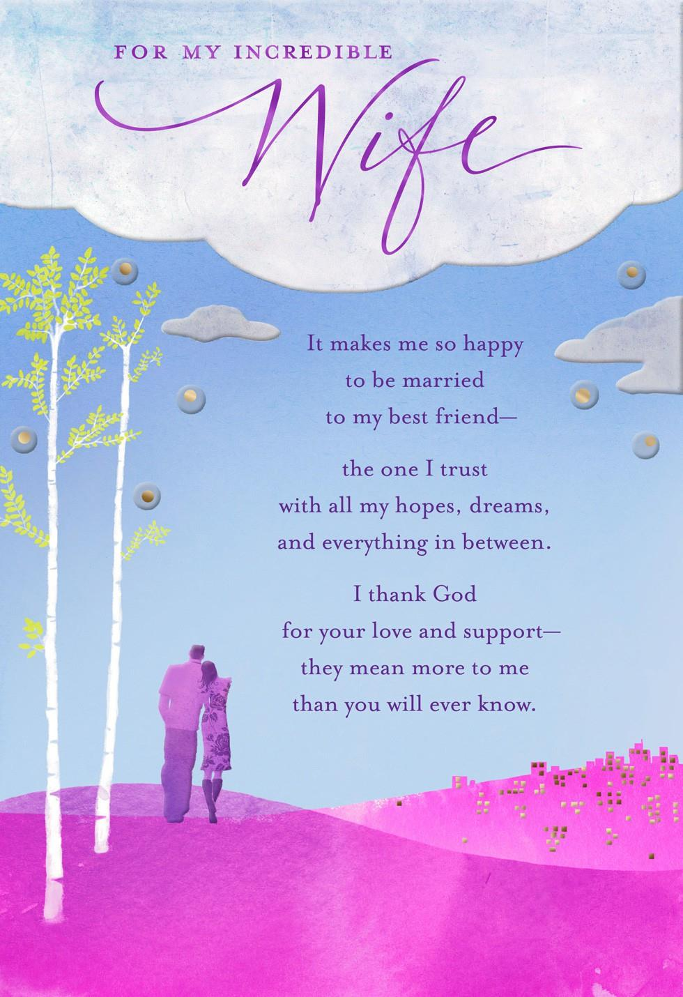 Wife I Love You Religious Birthday Card Greeting Cards