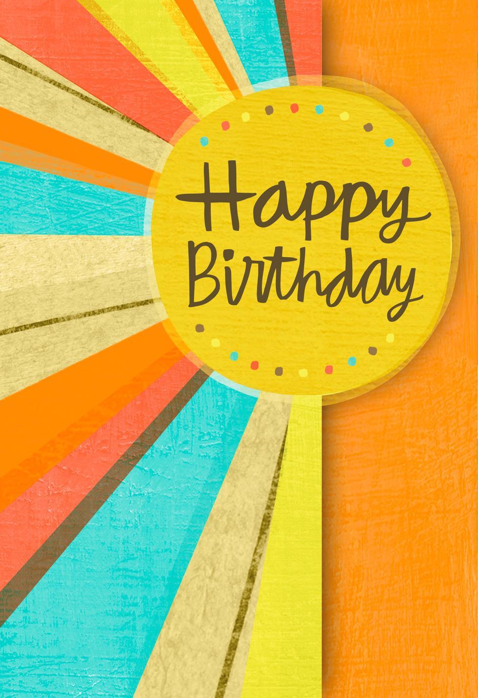Sun Rays Birthday Card Greeting Cards Hallmark