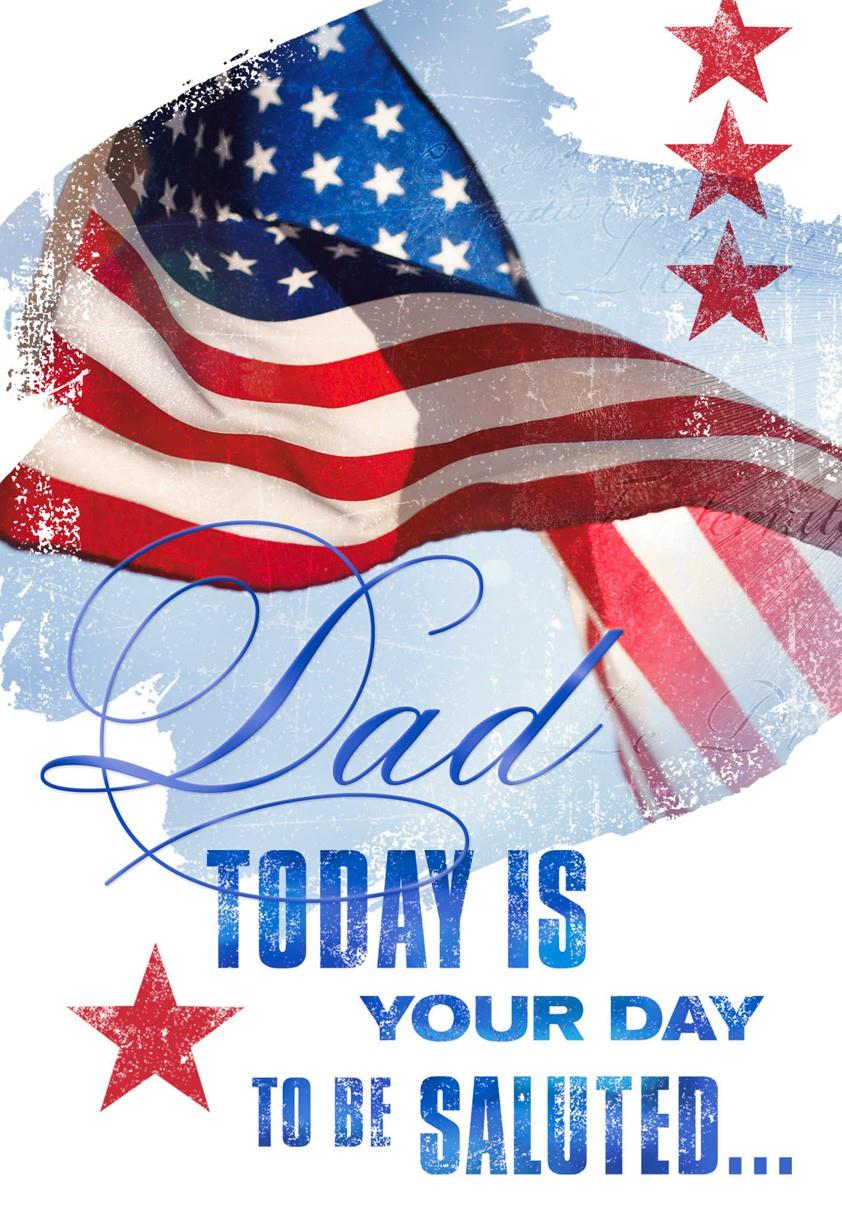 We Salute You Veterans Day Card For Dad Greeting Cards