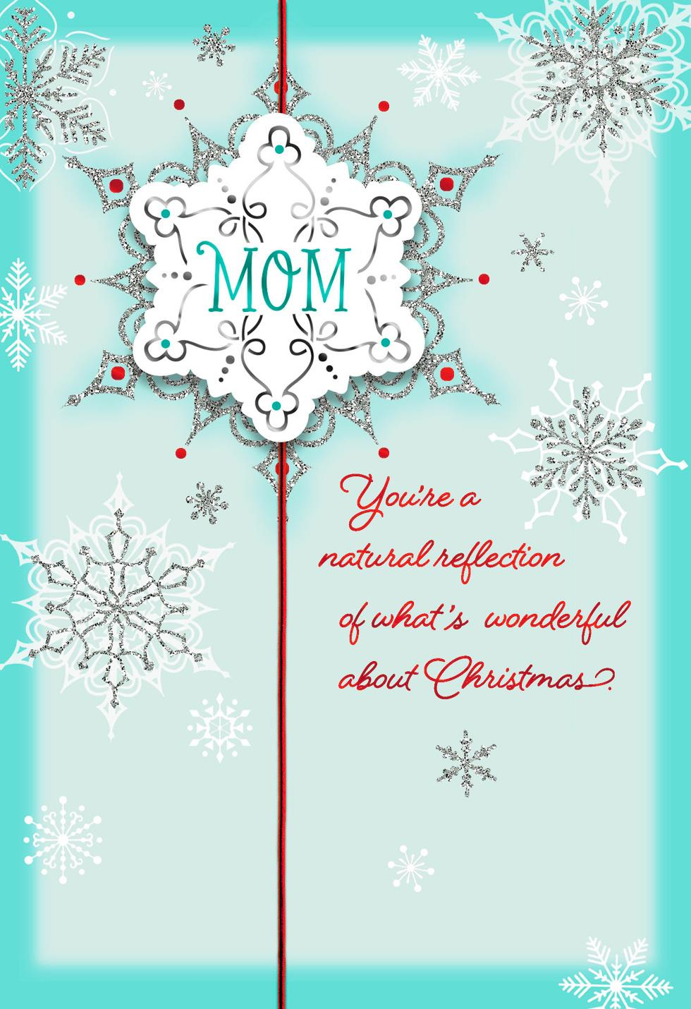 Youre Whats Wonderful Christmas Card For Mom Greeting