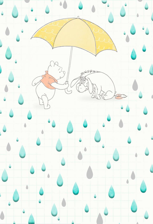 Winnie The Pooh Rainy Day Encouragement Card Greeting