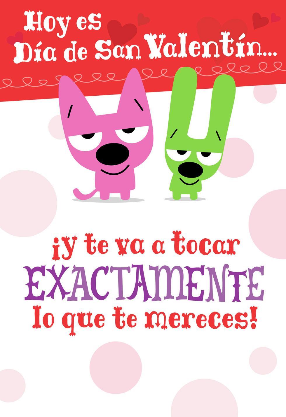 Hoopsampyoyo Smooch Spanish Language Valentines Day Card
