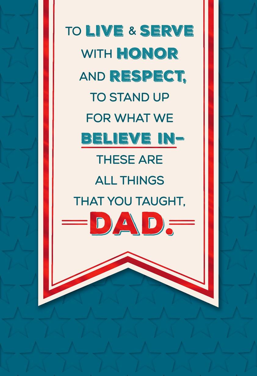 Dad Youre An Inspiration Fathers Day Card Greeting