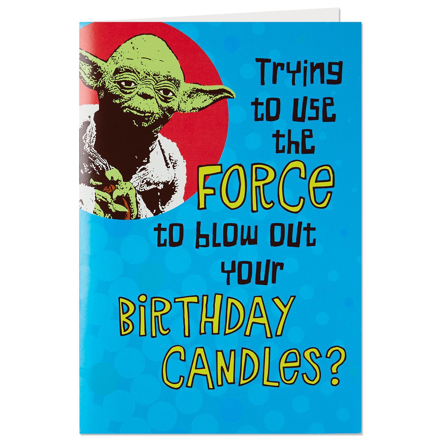 Star Wars™ Yoda™ Trick Candles Birthday Card With Sound