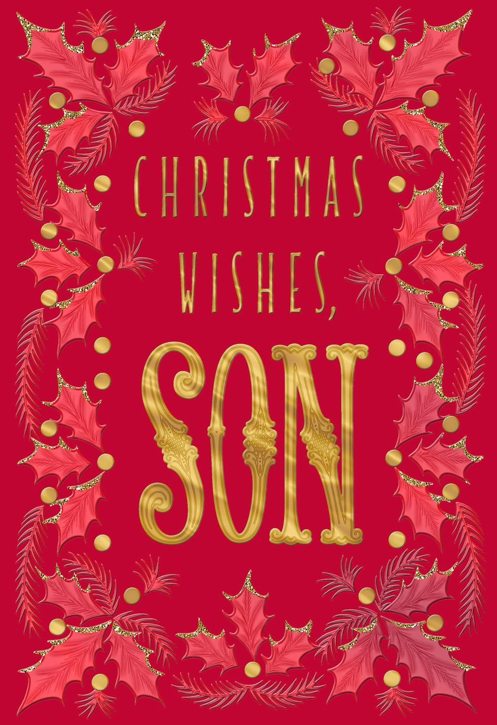 Son Many Wishes Christmas Card Greeting Cards Hallmark