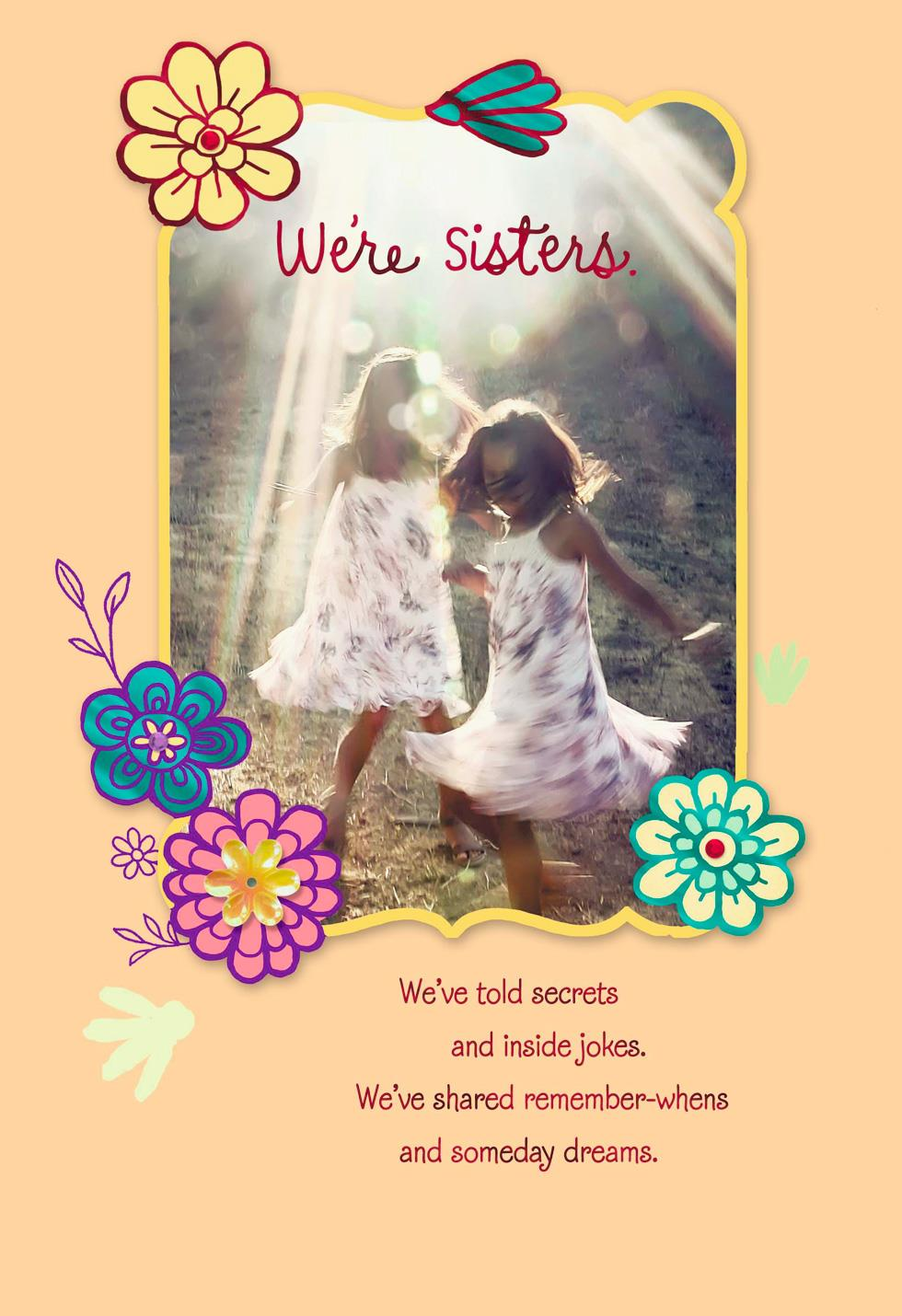 We've Shared So Much Birthday Card For Sister Greeting