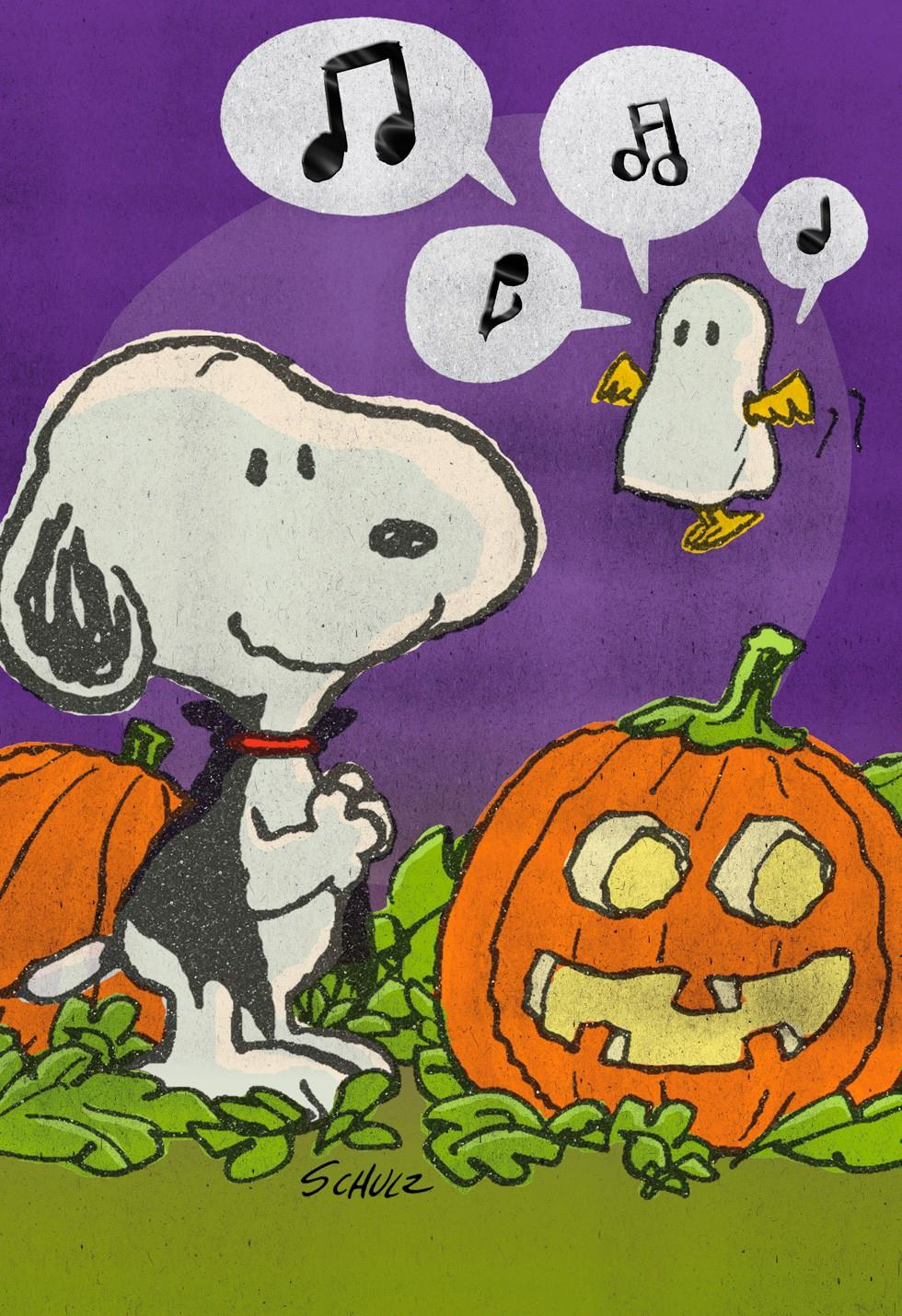 Photo Christmas Card Ideas For Grandparents - Snoopy And Woodstock Wish You  Tweets Halloween Card