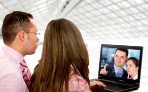 Couple Watching Web Video