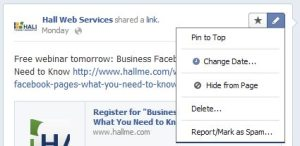 Pinning Facebook posts