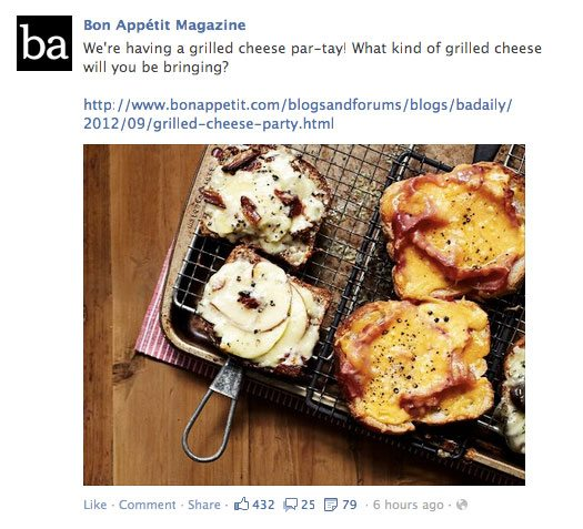 Example of Facebook post with image