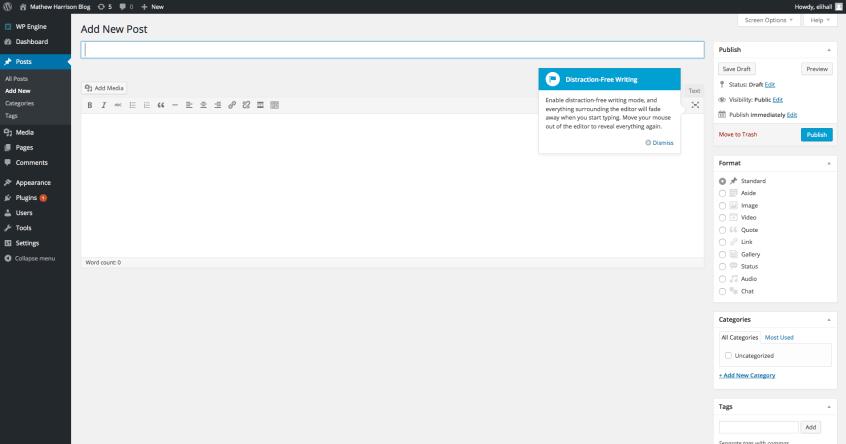 Add New Post | WordPress