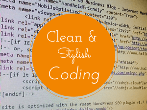 Coding best practices to make your code more legible to humans.