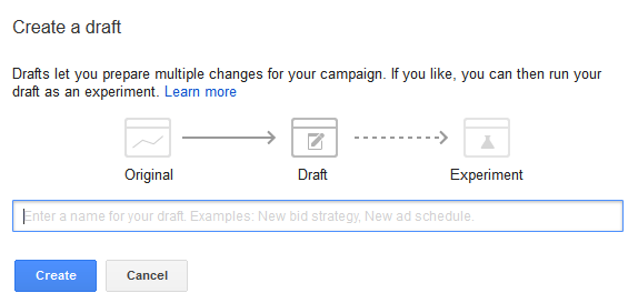 Create a Draft [Name it]