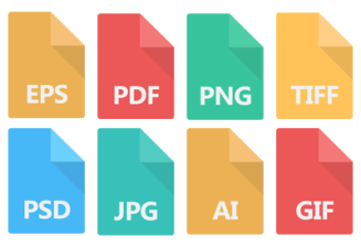 A Collage of Common Image File Types