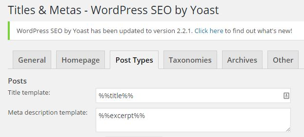 editing yoast's variables