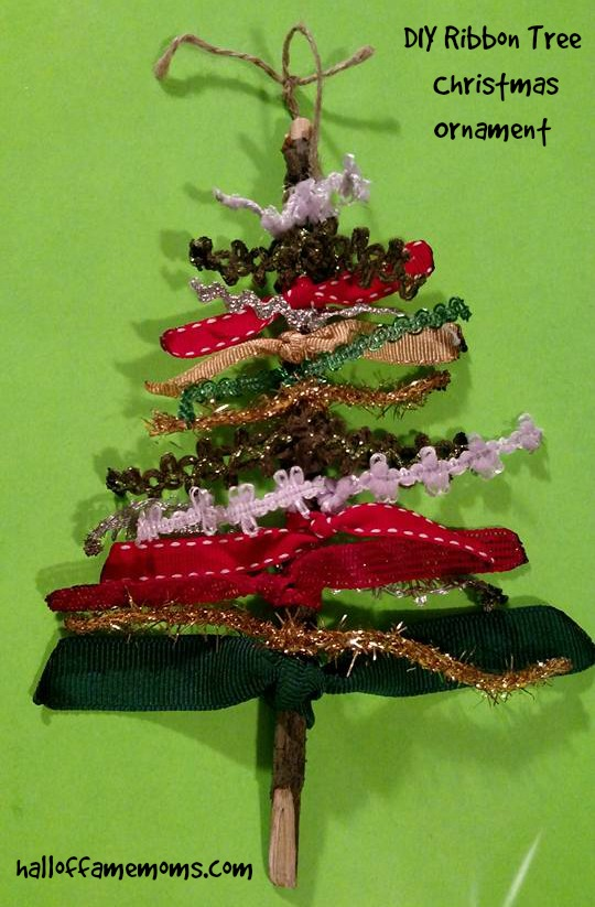 Homemade Christmas prep and Ribbon Tree Ornament