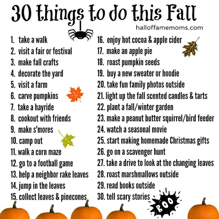30 fun things to do this fall  create a Fall Bucket List