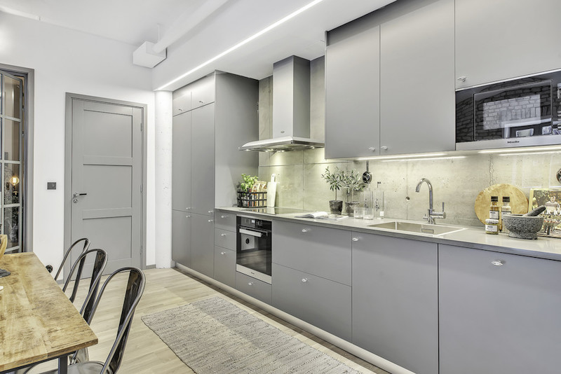how to make kitchen cabinets american standard sink city apartment with an industrial interior design