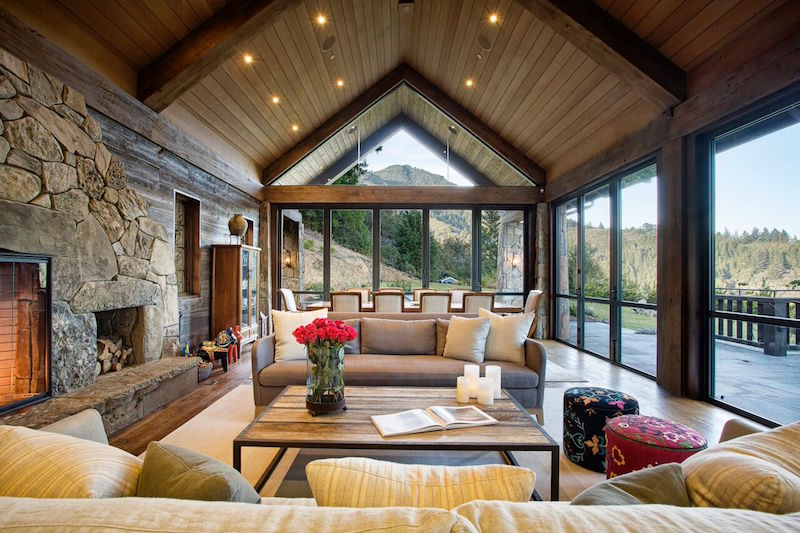 Eclectic Mountain Lodge by Michael Rex Architects
