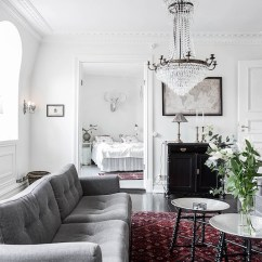Green Kitchen Chairs How Much Does A Restaurant Cost Scandinavian Home Design Combining White, Black And ...