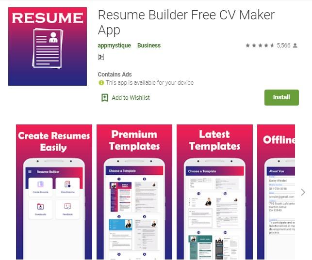 Zety cv builder is free to create a cv. 8 Aplikasi Pembuat Cv Paling Menarik Dan Gratis Hallo Gsm