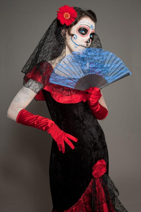 Da de los Muertos Makeup  Schminkanleitung fr Halloween  Halloweende
