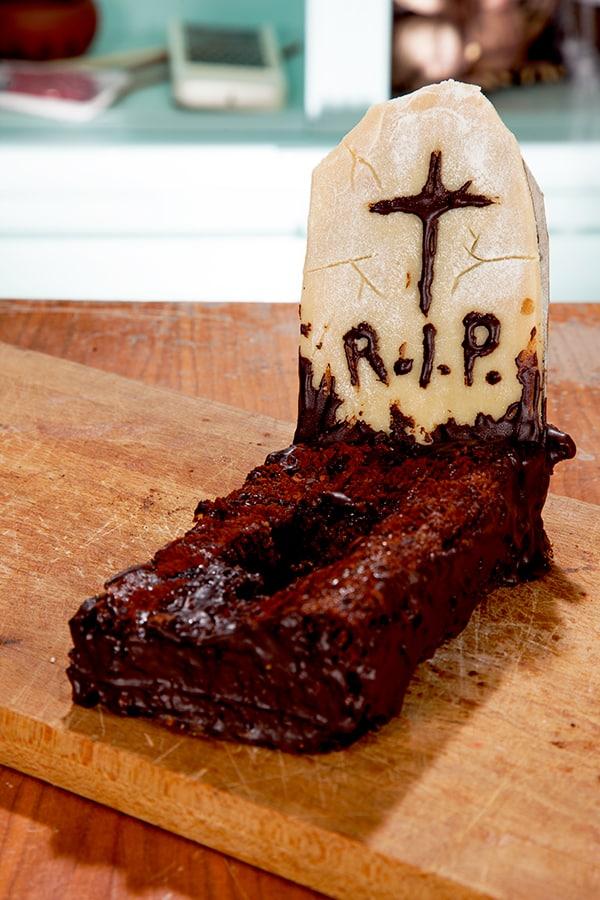 Halloween Rezept Friedhofs Halloween Kuchen  Halloweende