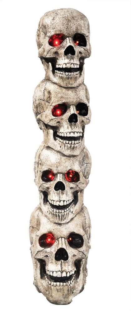 Skulls Tower Animated Halloween Prop