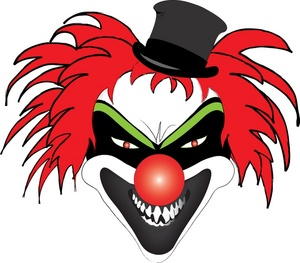 free scary clown clipart