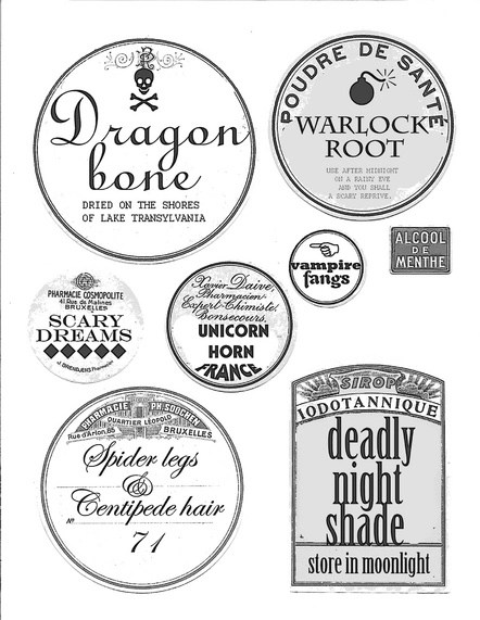 Papercraft Apothecary Jar Labels, Tags & Ideas