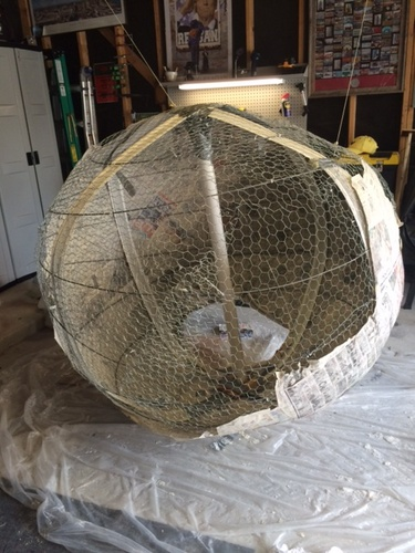 Static Building a large sphere how to frame