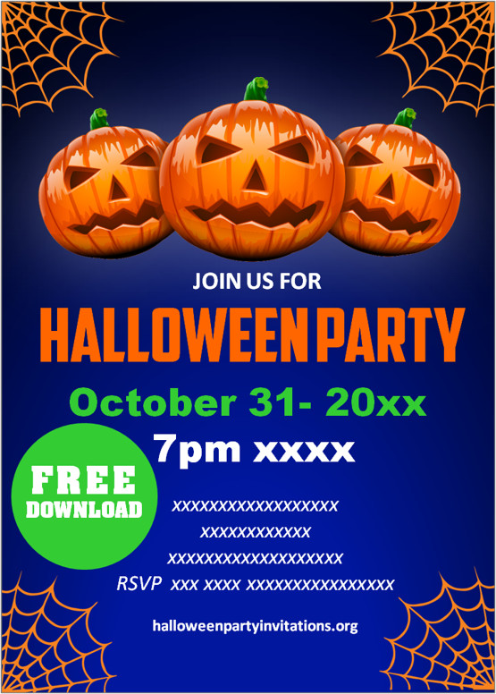 Download, print or send online with rsvp tracking for free. Free Printable Kids Halloween Party Invitations Templates