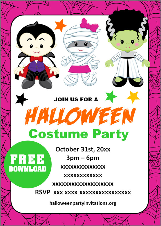 Country living editors select each product. Free Printable Halloween Costume Party Invitations Templates