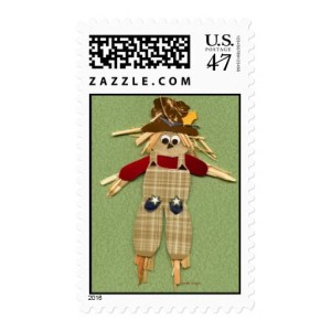scarecrow halloween stamps