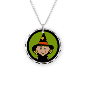 cute witch necklace