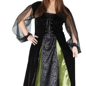 Plus size goth witch costume