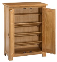 Waverly Oak Storage Cupboard / Shoe Cabinet | Hallowood