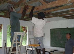fixing ceiling